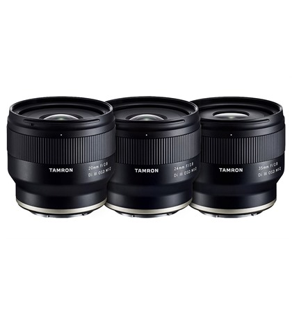 Tamron 20mm F/2.8,  24mm F/2.8, 35mm F/2.8 (new) for Sony Full Frame Mirrorless